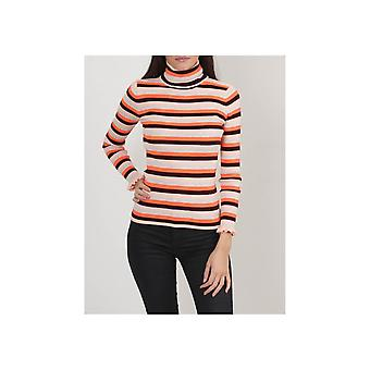 Maison Scotch Ruffle Cuff Roll Neck Knit