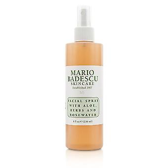 Facial Spray With Aloe Herbs & Rosewater - For All Skin Types - 236ml/8oz