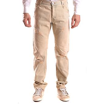 John Richmond Ezbc082030 Men's Bege Cotton Jeans