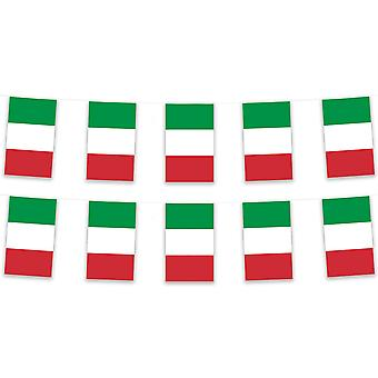 Italy Bunting 5m 12 Bunts Polyester Fabric Country National