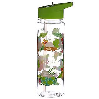 Paresse eau bouteille juste accroché autour de transparent, imprimé en plastique, capacité env. 500 ml...
