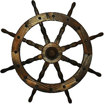 Garden Ships Wheel - Indoor / Outdoor Solid Wood Decoration