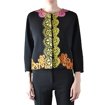 Moschino Ezbc015088 Dames's Black Acetaat Blazer