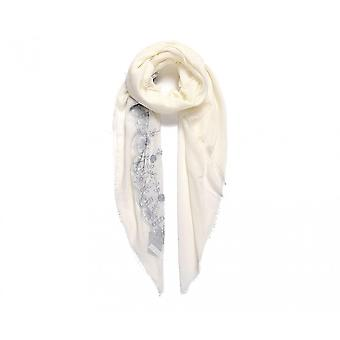 Intrigue Womens/dames grand floral brodé carré foulard