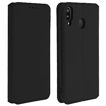 Slim case Classic Edition stativ etui med kortplads til Galaxy M20 Black