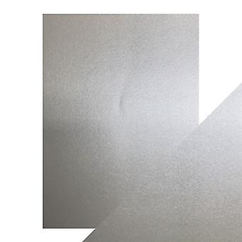 Craft Perfect von Tonic Studios A4 Pearlescent Card Luna Silver | Pack von 5