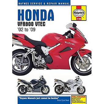 Honda VFR800 V-TEC V-Fours Motorcycle Repair Manual by Anon - 9781785