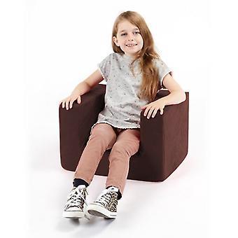 Sedia con braccioli in schiuma Brown comfy per bambini
