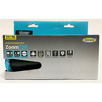 Ring Zoom750 LED Rechargeable Torch RIT1060