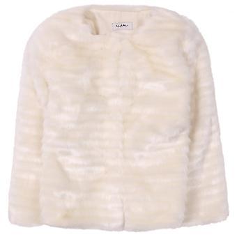 Byblos Kids Pelliccia Baby Jacket-Panna