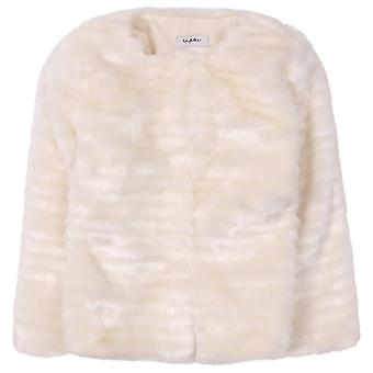 Byblos Kids pelliccia giacca bambino-panna