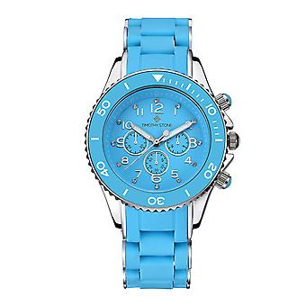 Timothy Stone Women's AMBER-SILICONE Blue and Silver Watch