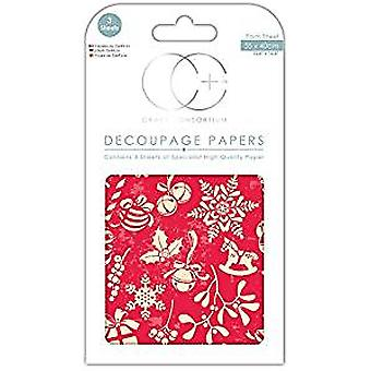Craft Consortium Electic Christmas Decoupage Papers (CCXDECP050)