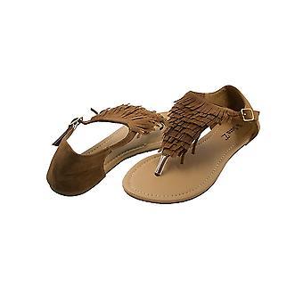 Sara Z Ladies Fringed Thong Sandal