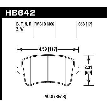Hawk prestaties HB642F. 658 HPS