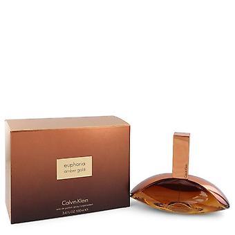 Euphoria Bernstein gold eau de parfum spray von calvin klein 545184 100 ml