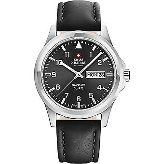 Swiss military chrono Quartz Analog Man Watch with Cowhide Bracelet SM34071.04