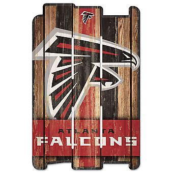 وينكرافت PLANK Holzschild علامة الخشب -- اتحاد كرة القدم الأميركي اتلانتا الصقور