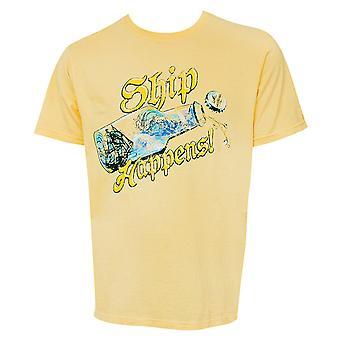 Landshark Ship Happens Yellow Tshirt