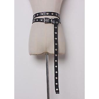 Falsa piel Multiway Stud Ojal Cinturón Negro