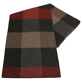 Fraas Reversible Scarf - Black/Red/Brown
