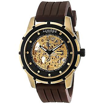 Akribos XXIV men s Premier Delos Automatic Skeleton Watch