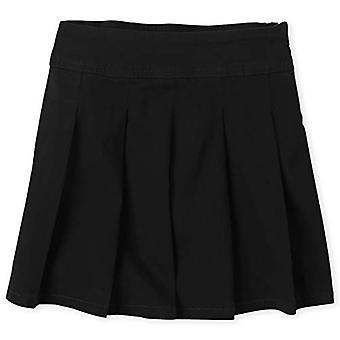 The Children's Place Girls Plus Size' Uniform Skort, Black, 14