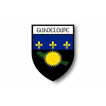 Sticker Sticker Motorcycle Car Blason City Flag Guadeloupe Gwada