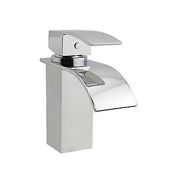 Polly Waterfall Square Chrome Basin Mixer