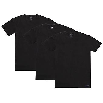 Ted Baker Basics Crew Neck 3 Pack T-Shirts - Black