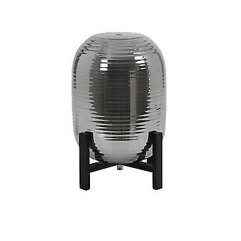 Light & Living Table Lamp Ø25X34 Cm Nibali Glass Smoke+Wood Black