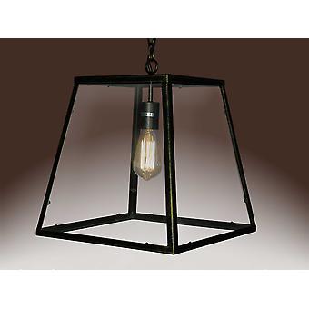Lucy 1-light Black Edison Lamp with Bulb