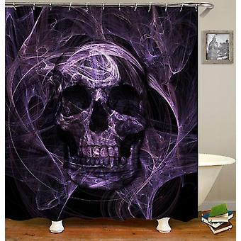 Purplish Demon Skull Shower Curtain