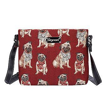 Pug crossbody shoulder bag by signare tapestry / xb02-pug