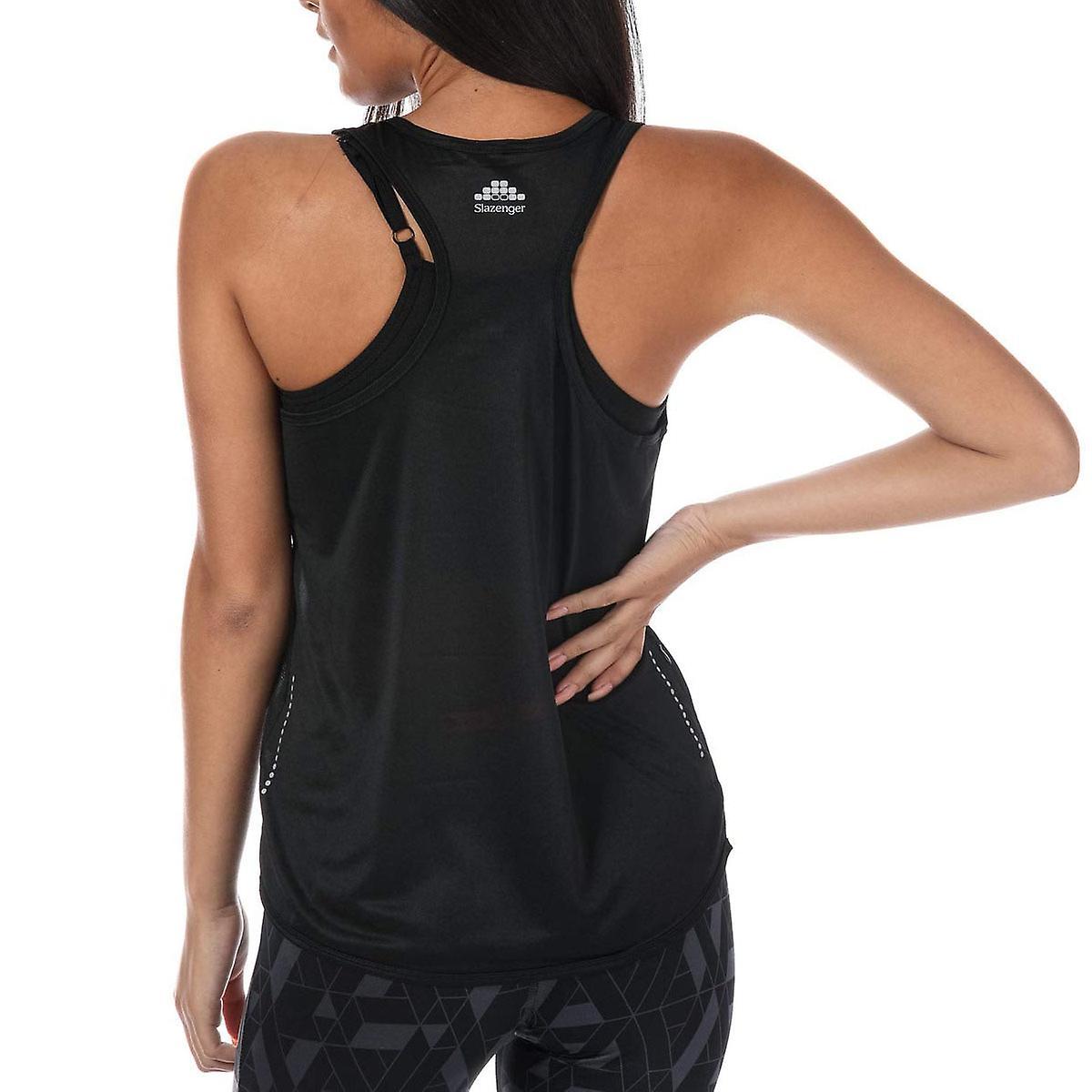 Slazenger Nessa Womens Ladies Fitness Training Vest Tank Singlet Black