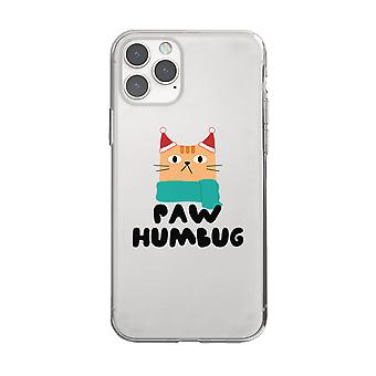 Paw Humbug Cool Holiday CLEAR Phone Case Christmas Gift