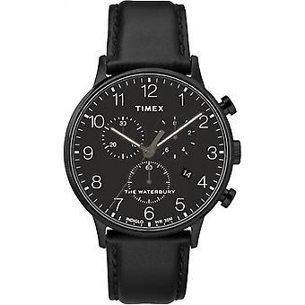 Timex TW2R71800 Waterbury Classic Chronograph Wristwatch Black Dial