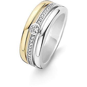 Ring Ti Sento 12094ZY - ring money Dor 3 rows Zirconium woman