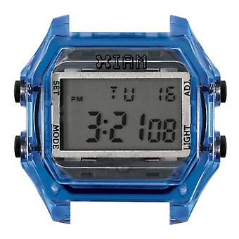 Watch I Am The Watch IAM-115 - Blue Box Translucent Black Buttons / Horn 20 mm Set