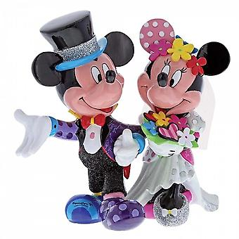 Disney By Britto Mickey & Minnie Mouse Wedding Figurine