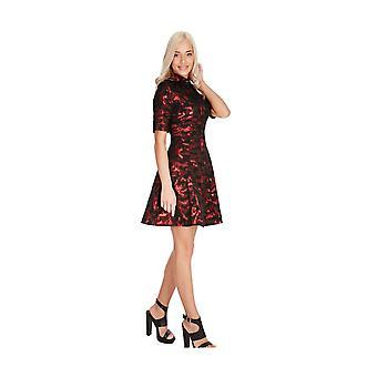 Goddiva Little Full Skirt Shirt Dress