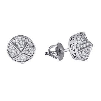 925 Sterling Ezüst Férfi Női Unisex Forduló CZ Cubic Cirkónia szimulált Gyémánt Stud Cluster Divat fülbevaló Ékszer G