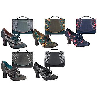 Ruby Shoo Women's  Daisy Lace Up Shoe Boots & Matching Belfast Bag