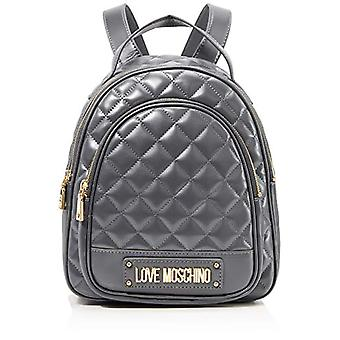 Love Moschino Bag Quilted Nappa Pu Sac à dos pour femme (Gris) 29x30x12 cm (W x H x L)