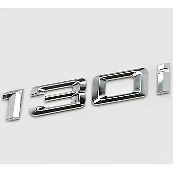 Plata cromo BMW 130i coche modelo de arranque trasero número carta pegatina etiqueta insignia emblema para 1 serie E81 E82 E87 E88 F20 F21 F52 F40