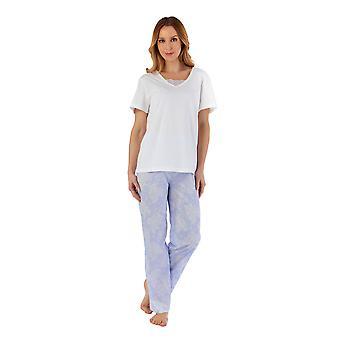Slenderella PJ55213 Women's Floral Cotton Pyjama Set