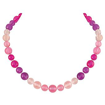 Eternal Collection Joyous Pink And Purple Czech Glass Beaded Necklace