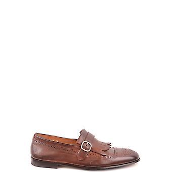 Doucal's Ezbc089040 Men's Brown Leather Monk Strap Shoes
