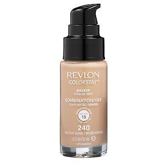 Combinação de colorificar Revlon/Pele Oleosa-240 Bege Médio 30ml
