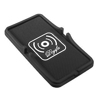 Qi draadloze auto lader anti-slip pad dock standaard voor iPhone 8 x Samsung S8